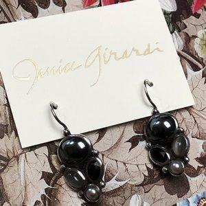 Janice Girardi Design Jewelry - Hematite Mooonstone Earrings
